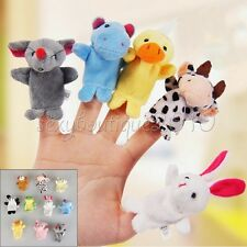 10Pcs Finger Puppets Cloth Doll Baby Educational Hand Cartoon Animal Toy Hobbies