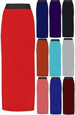NEW PLUS SIZE WOMENS LADIES JERSEY LONG MAXI SKIRT GYPSY STRETCHY SKIRT UK 16-22