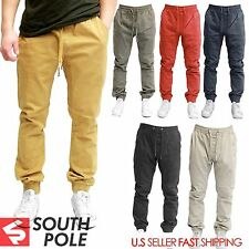 Southpole JOGGER Men Elastic Casual Waist Drop Crotch Twill Harem Trousers Sweat