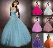 long wedding cocktail dress formal bridesmaid prom party evening Plus Size 6-26
