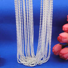 2015 Smart Wholesale lots 5pcs 925 Sterling Silver Ball Beads Chain Necklaces