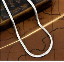 """Wholesale 5pcs lot 925 Silver 2mm Flat Snake chain Necklace 16""""-30"""" New Jewelry"""