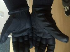 BRAND NEW PAIR WINTER POLAR FLEECE WINTER GLOVES MENS BLACK LADIES PINK - ACE!
