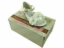 Girls Flower Kitten Heel Sandal Christening Wedding Bridesmaid Party Prom Shoe