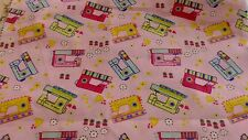Pink Yellow Green Red Blue Sewing Machines, 100% Cotton fabric, Quilting, Crafts