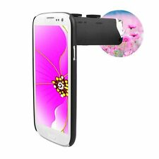 60-100X Zoom Magnify Microscope Camera Lens LED Light + Back Case For Cell Phone