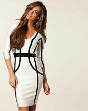 ♥ FRENCH CONNECTION FCUK ♥ RRP £150 SPOTLIGHT KNIT BODYCON COCKTAIL PARTY DRESS