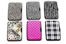 Print Designs Aluminum RFID Credit Card Wallet - Protection & Travel Use (New)