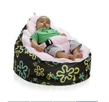 Cool Baby Beanbag Children Sofa Chair Cover Soft Snuggle Bed with Harness Strap