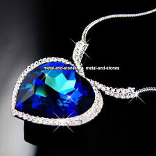 TITANIC Heart Of The Ocean Crystal Necklace Love Valentine Gift For Her Wife UK