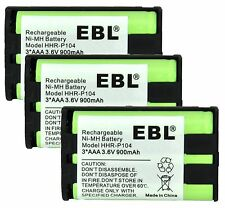 BEST Replacement Cordless Phone Handset Battery For Panasonic HHR-P104A/1 3-PACK