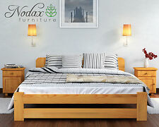 *Wooden Bedroom Furniture*New  King Size 5ft Pine Bed Frame&Slats Alder  Colour