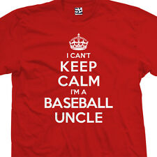 Baseball Uncle T-Shirt - I Can't Keep Calm I'm a Unkle Unk - All Sizes & Colors