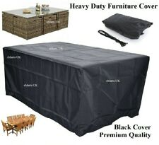 Waterproof Rattan Rectangular Cube 6 Seater Furniture Cover All Size All Weather