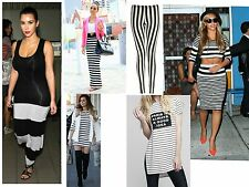 Womens ladies summer evening  party long stripe maxi dress skirt top lot s of