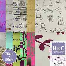 HALLMARK GIFT WRAP WRAPPING PAPER SHEETS BRAND NEW BIRTHDAY WEDDING GENERAL