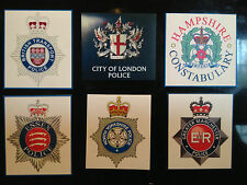 BRITISH POLICE SERVICE MAGNETIC SIGNS: 34 DESIGNS + FREE PHONE STICKER