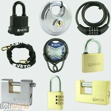 WATERPROOF COMBINATION ARMOURED, BRASS, DISC PADLOCK, CABLE LOCK SECURITY CHAIN