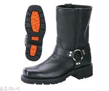 Xelement 1436 Short Harness Lug Sole Motorcycle Full Grain Leather Biker Boot