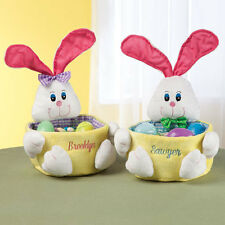 NEW ~ PERSONALIZED Easter Bunny Basket Boy OR Girl