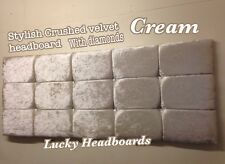 headboard diamond in crushed velvet stylish design all sizes & manycolours cheap