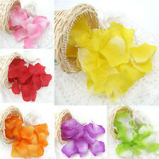 1400Pcs Various Colors Silk Simulation Rose Flowers Petals Wedding Carpet Decor