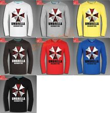 Resident Evil Umbrella Corporation Unisex  Long sleeve T-shirt 7Colors