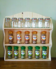 WOODEN SPICE RACK FRENCH COUNTRY SHABBY CHIC SHELVES 3 TIERS 15 to 36 Jar