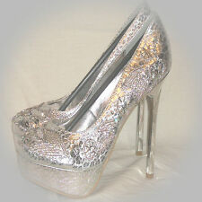 New Women Platform Stiletto Pump Wedding Bridal Prom Party Dress Shoes High Heel