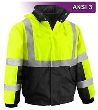 Class 3 Hi Vis Safety Jacket - Waterproof Hooded **FREE SHIPPING**
