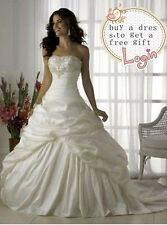 New Sexy White / Ivory Wedding Dress  Bridal Gown Size 6 8 10 12 14 16