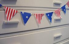 MINI BUNTING - American Style - Stars & Stripes - Red Blue White