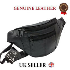 GENUINE REAL LEATHER BUM BAG MONEY WAIST BELT FANNY PACK HOLIDAY FESTIVAL WALLET