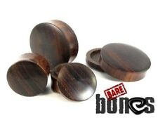 "Bare Bones Pair of Dark Raintree Wood Plugs 0G to 1 1/4"" [Select Your Size]"