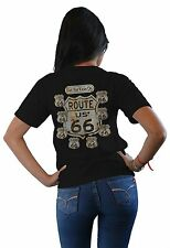 Route 66 Tshirts State Signs Mother Road Biker Mens Graphic Tee Sm  3XL Big Tal