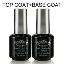 8ml Perfect Summer Top Coat Base Gel Primer Shiny For UV GEL Nail Polish Tips