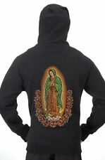 Men's The Madonna Our Lady Of Guadalupe Virgin Mary Hoodie Black Sweatshirt