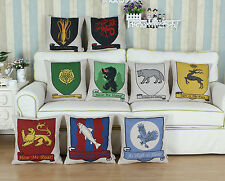 45 X 45cm Coussin Cushion Cover Pillow Shell Song Of Ice And Fire Flag Home Car