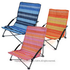 Low Folding Lightweight Fishing Beach Camping Outdoor Chair Foldable Garden Seat