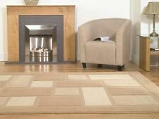 Soft 4304 79 Beige Cream Squared Rug in various sizes and runner