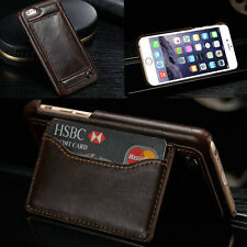 Retro Leather Stand Case Protect Back Card Slot Cover For Apple iPhone 6 6 plus