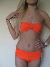 Juicy Couture MISS DIVINE bandeau cinched skirted two-piece swimsuit S M L $174