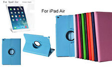 Screen Protector/360°Rotation PU Leather cover case for Apple New iPad Air