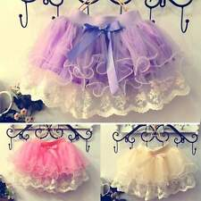 Girls Kids Baby Tutu Party Ballet Dance Wear Dress Skirt Pettiskirt Costume EP98