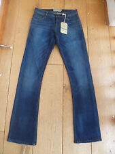 FAT FACE DARK USED WASHED INDIGO BOOTCUT BOOTLEG JEANS 6 S R STRETCH 37086