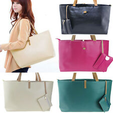 Lady Women PU Leather Handbag Shoulder Bag Tote Purse Satchel Messenger Hobo Bag