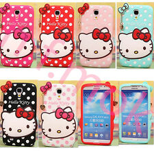 3D Cartoon Silicone Soft Cute Pendants Kitty Case Cover for iPhone/Samsung/HTC