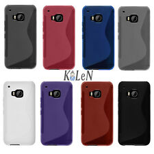 Colorful S Line Soft Matte Gel TPU Silicone Case Skin Cover For HTC One M9 2015