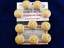 Confederate Army-Civil War General Service Officer Buttons 10 Pieces NEW