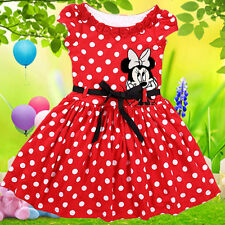 Minnie Mouse Baby Kids Girls Clothes, Cartoon Party T-shirt Dot Skirt Dress